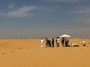 Desert Shooting - Copyright Henry Hopking